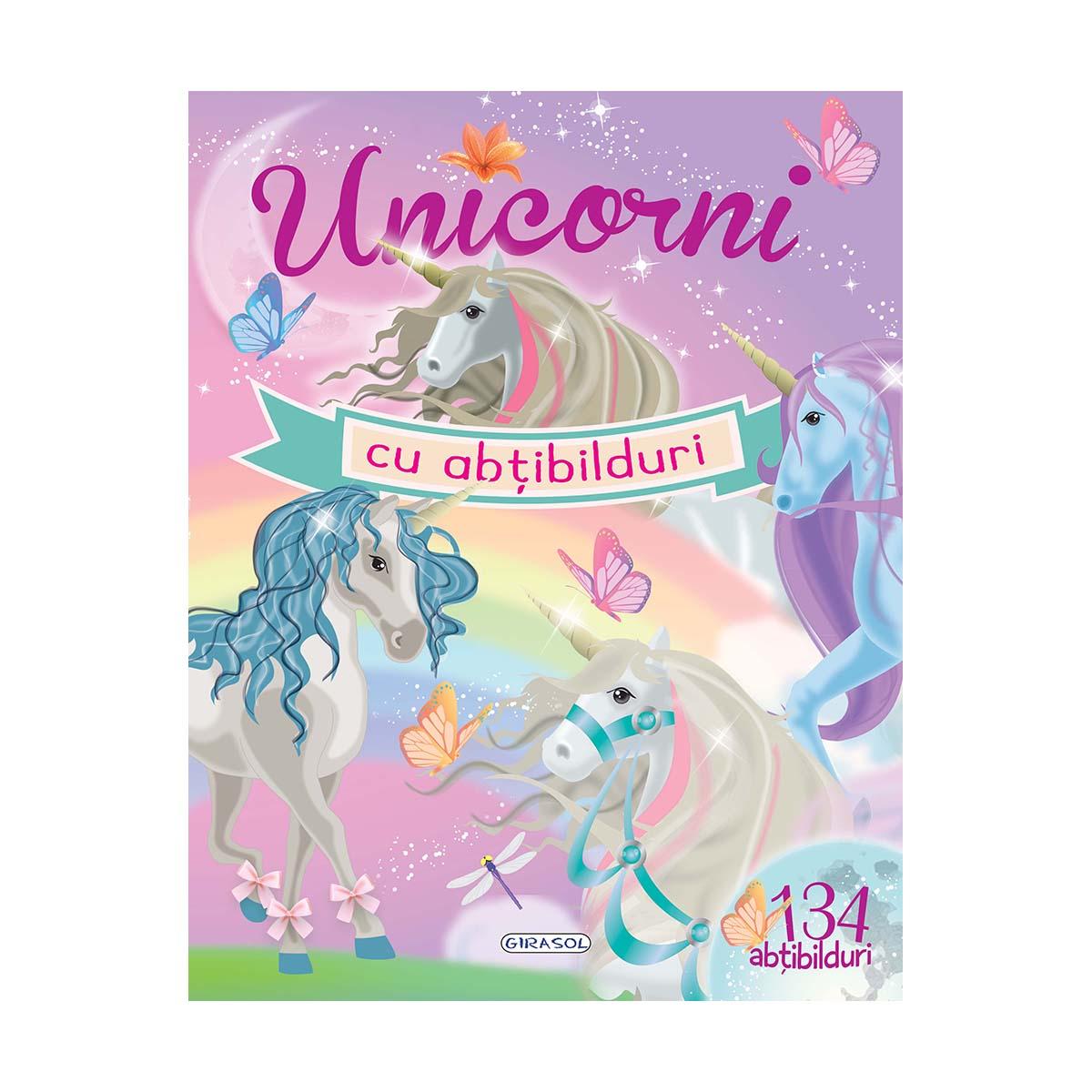 Carte Editura Girasol, Unicorni cu abtibilduri