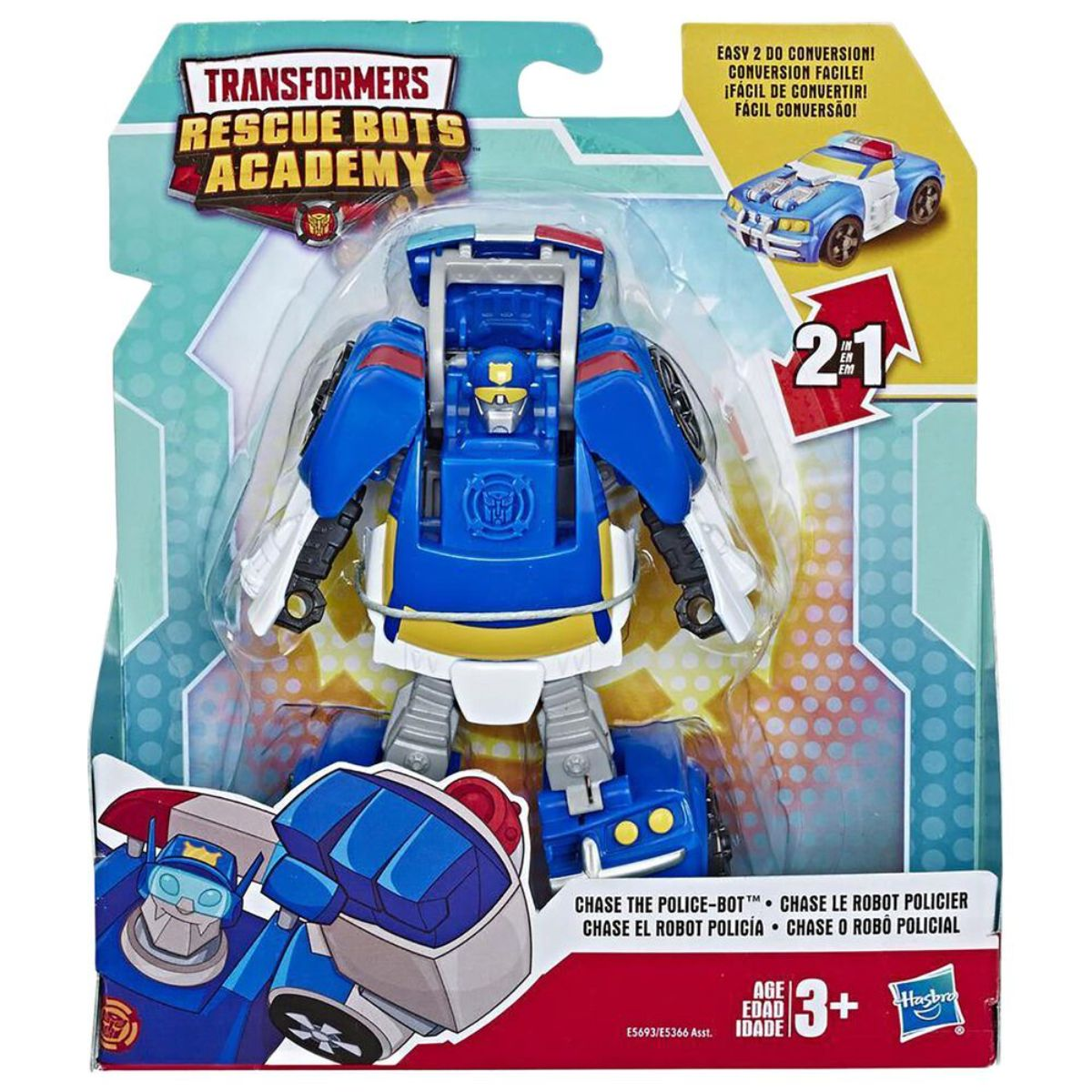 Figurina Transformers, Rescue Bots Academy, Chase the Police-Bot, F08895