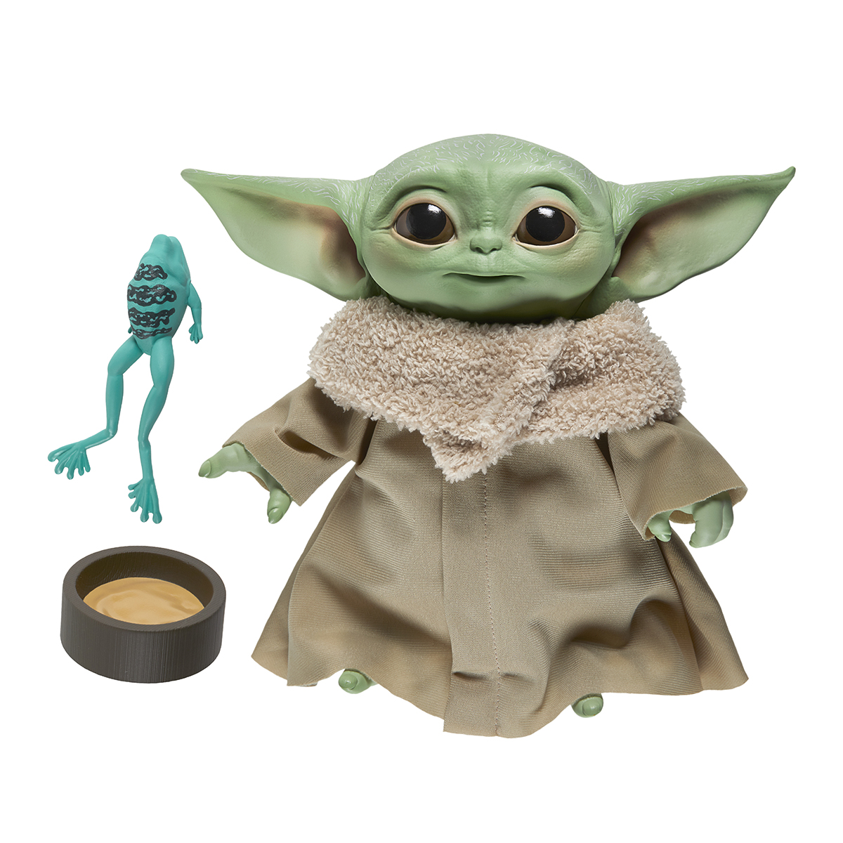 Jucarie interactiva de plus cu sunete Star Wars Baby Yoda, 19 cm imagine 2021