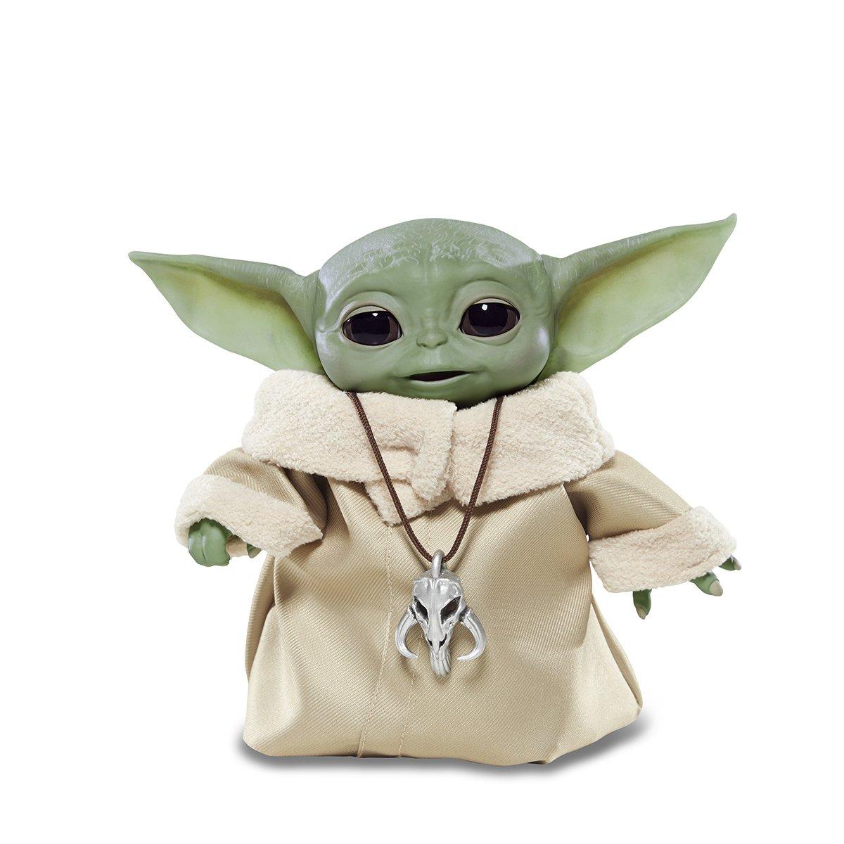 Figurina interactiva cu sunete Star Wars Baby Yoda, 16 cm