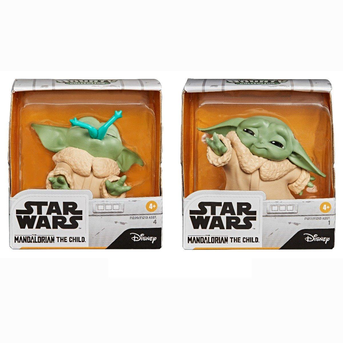 Set 2 figurine Star Wars, Baby Yoda, The Child, Froggy Force, 5 cm