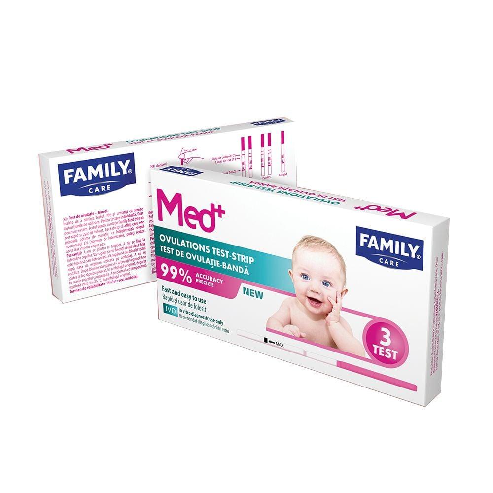 Test ovulatie banda Family Med, 3 buc