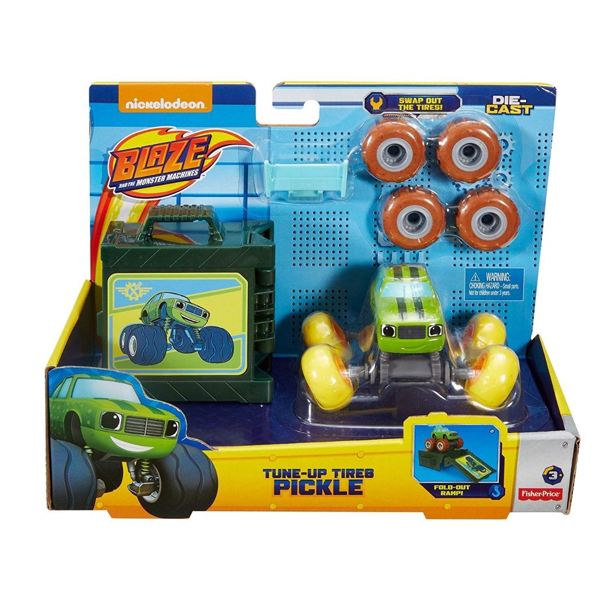 Set masinuta cu cauciucuri de schimb Blaze Monster Machines, Pickle FHV39