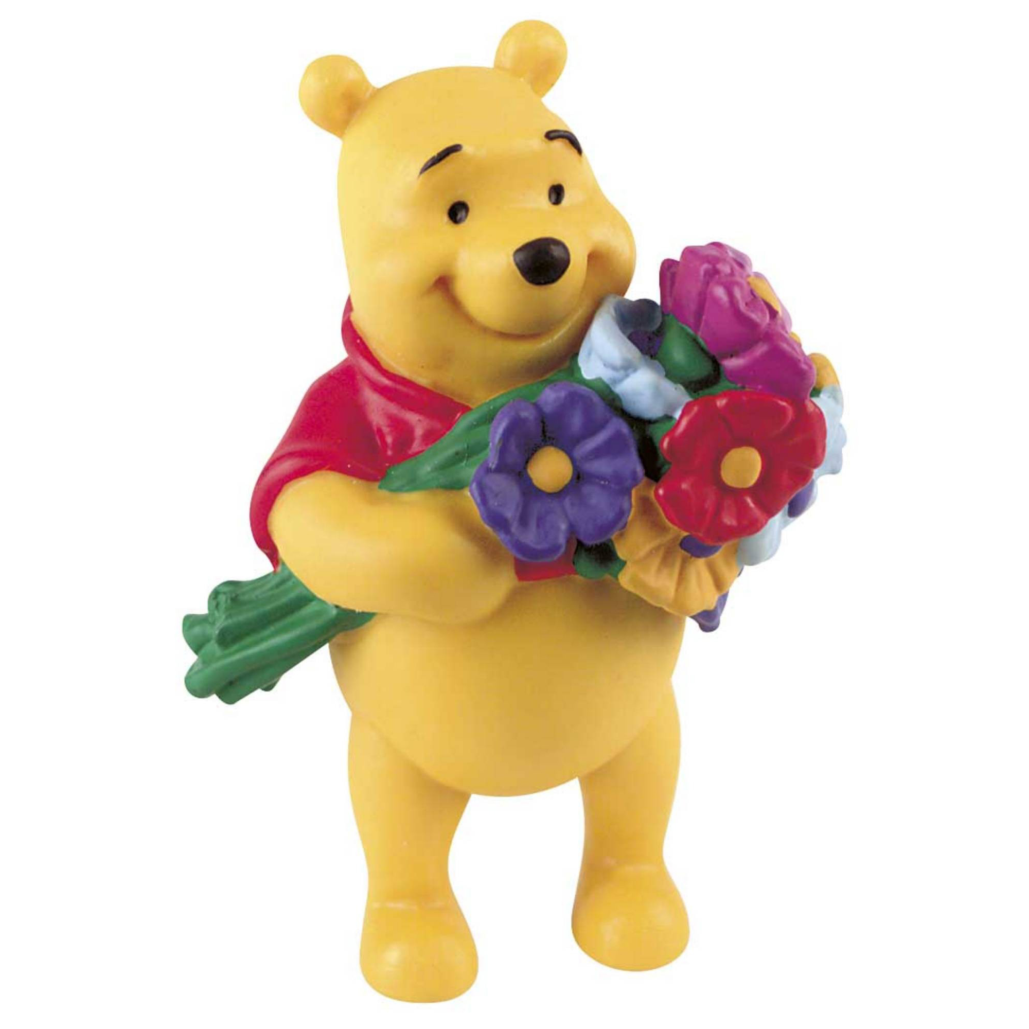 figurina bullyland winnie the pooh cu flori