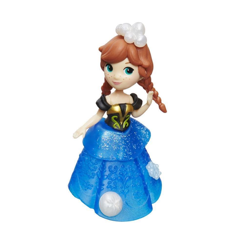 figurina disney frozen micul regat - anna cu rochie stralucitoare, 7.5 cm