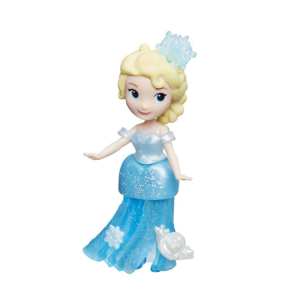 Figurina Disney Frozen Micul Regat - Elsa cu rochie stralucitoare 7.5 cm