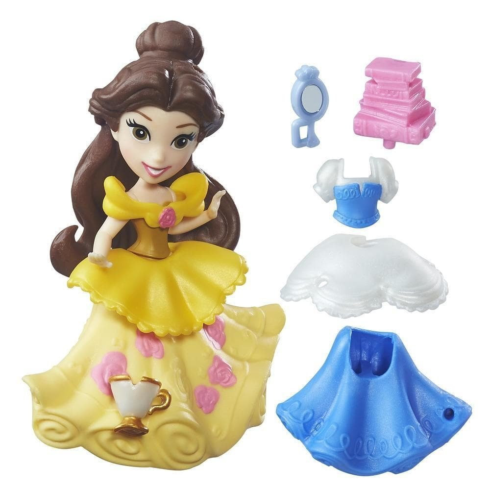 figurina disney princess little kingdom - belle, 8 cm