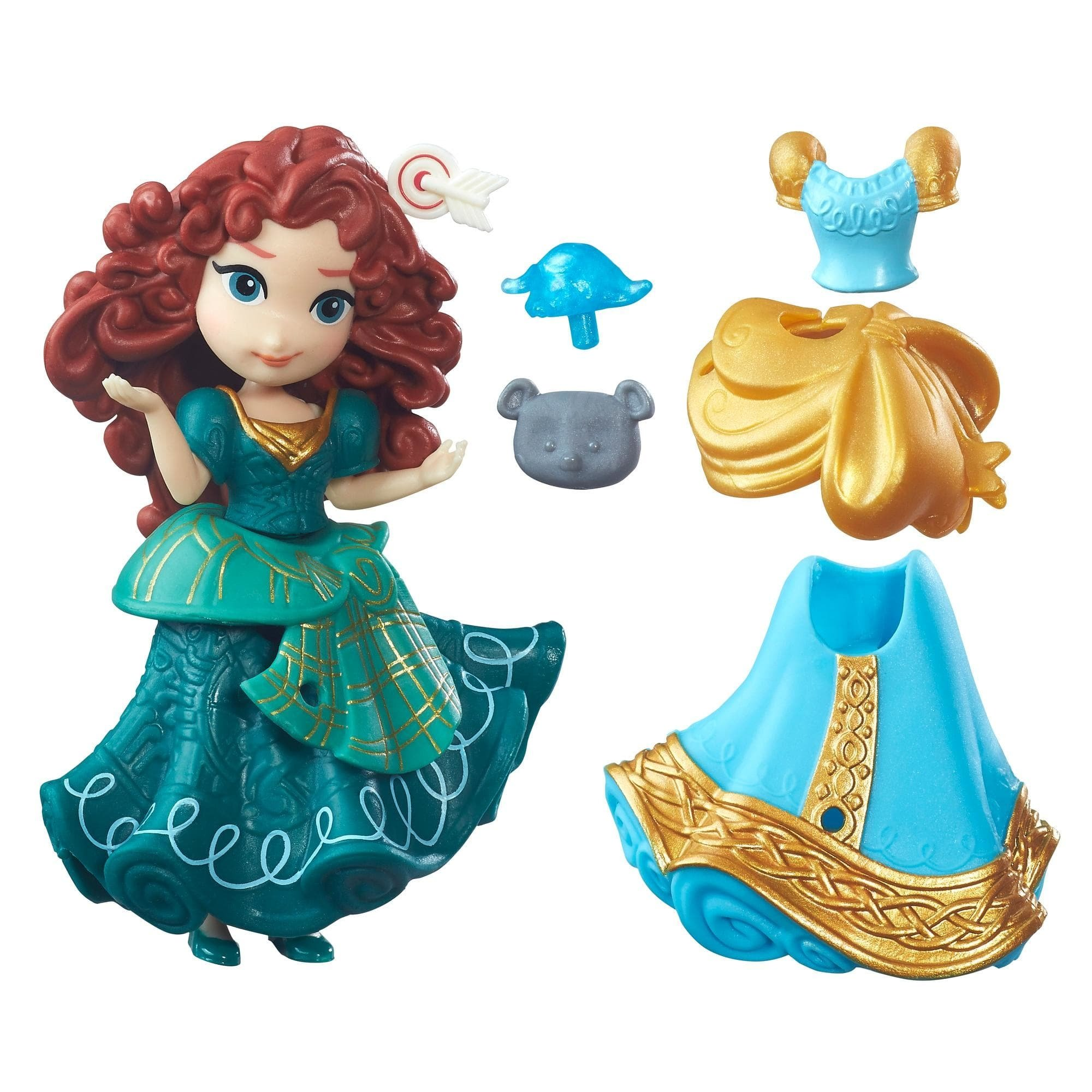 figurina disney princess little kingdom - merida, 8 cm
