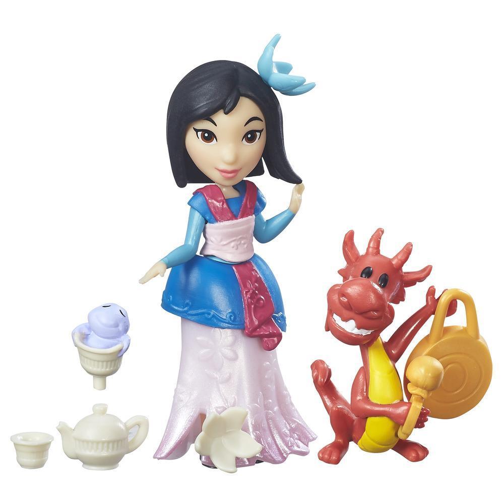 figurina disney princess micul regat - petrecerea cu ceai a lui mulan, 7.5 cm