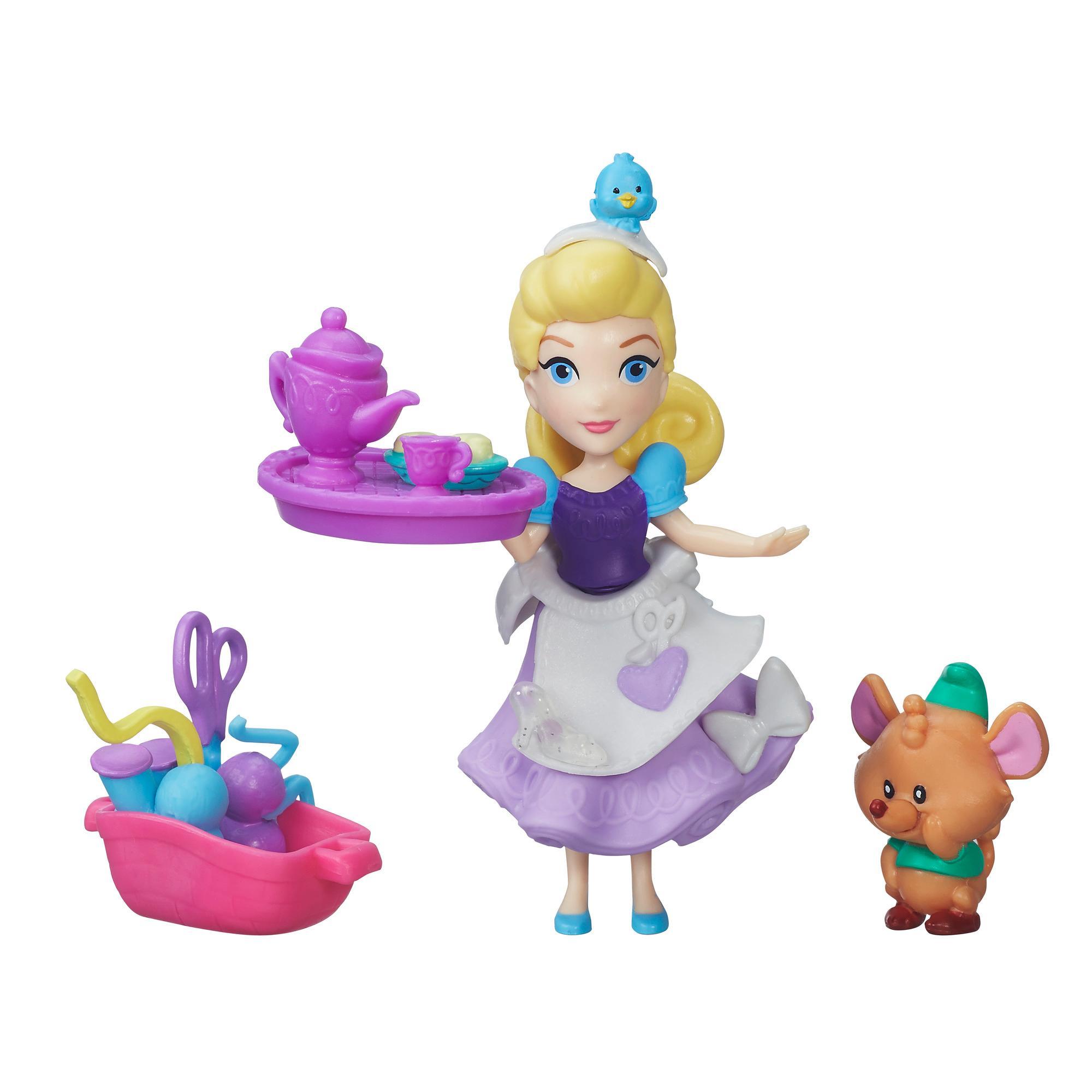 figurina disney princess micul regat - petrecerea de cusut a cenusaresei, 7.5 cm