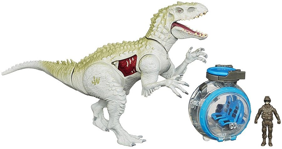 figurina jurassic world - indominus rex vs. gyro sphere