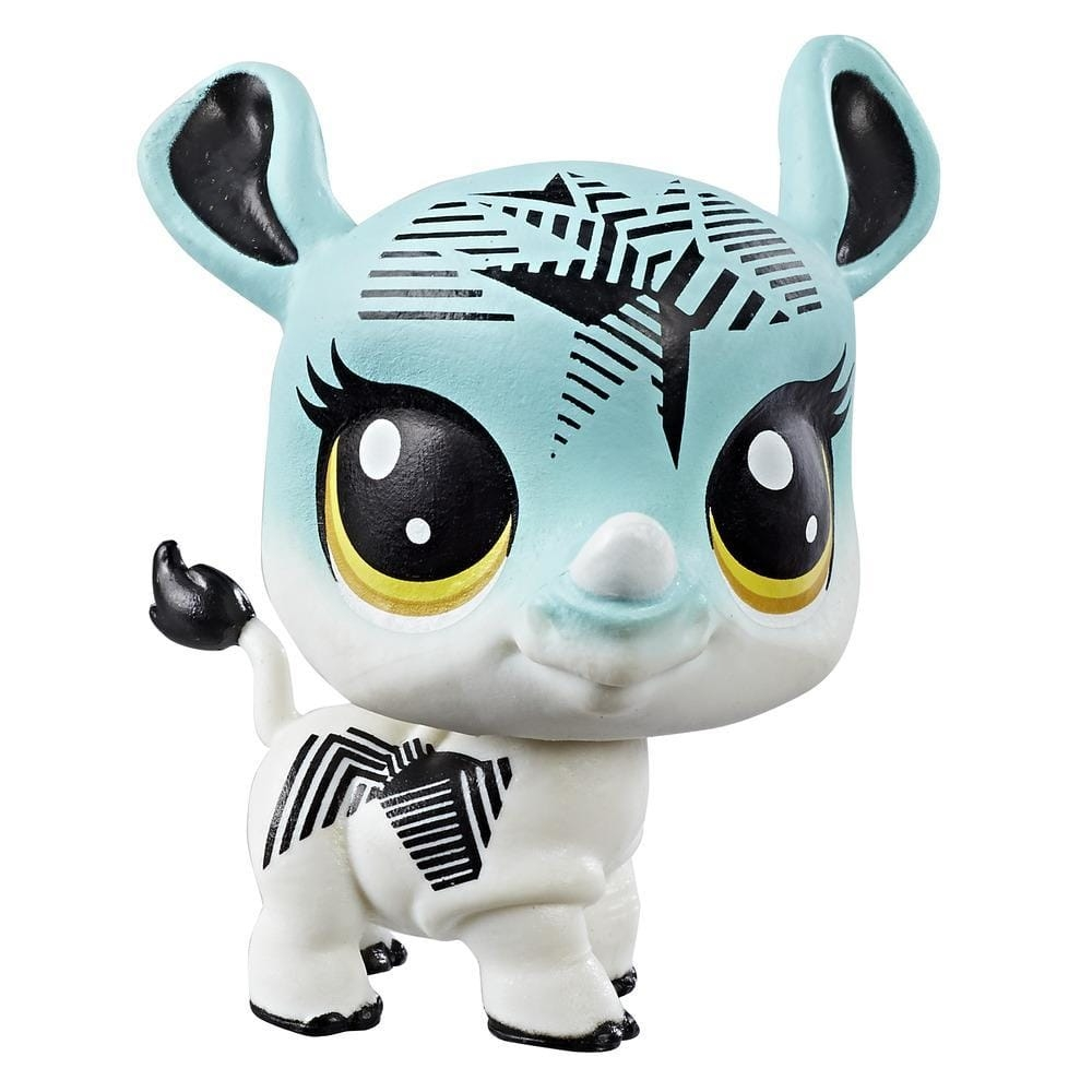 figurina littlest pet shop seria 1 - saphire rhinostar