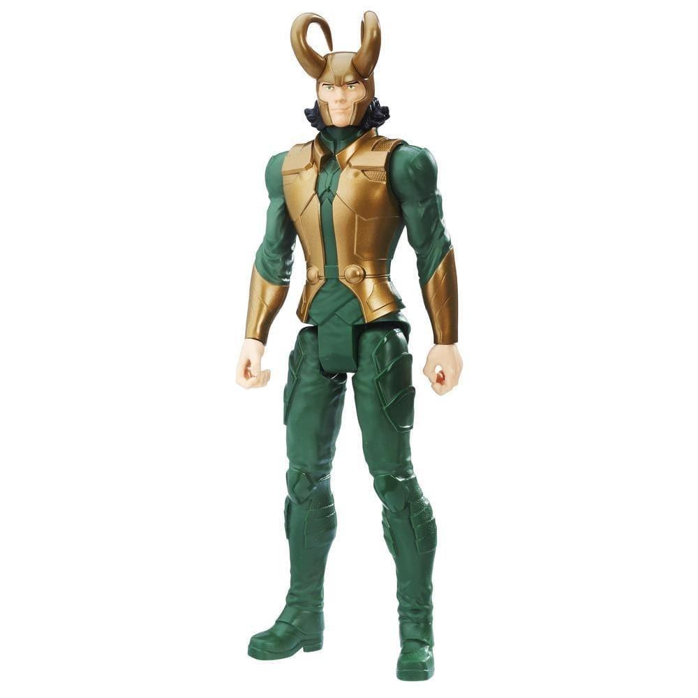 figurina marvel avengers titan hero - loki, 30 cm