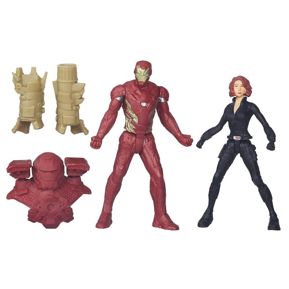 figurina marvel captain america civil war - iron man & black widow