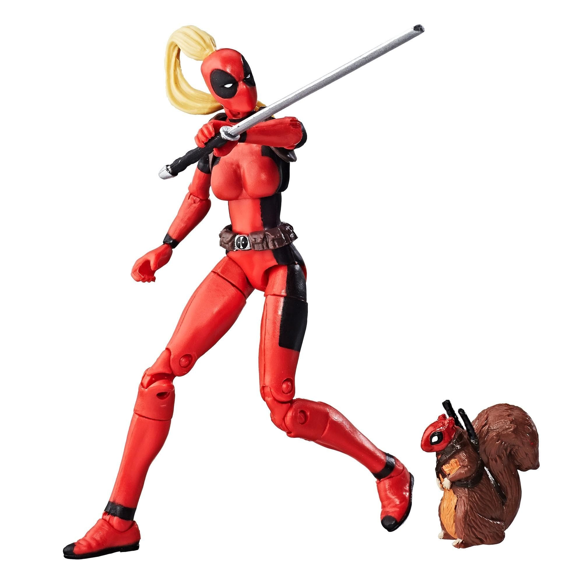 figurina marvel legends series - lady deadpool, 10 cm