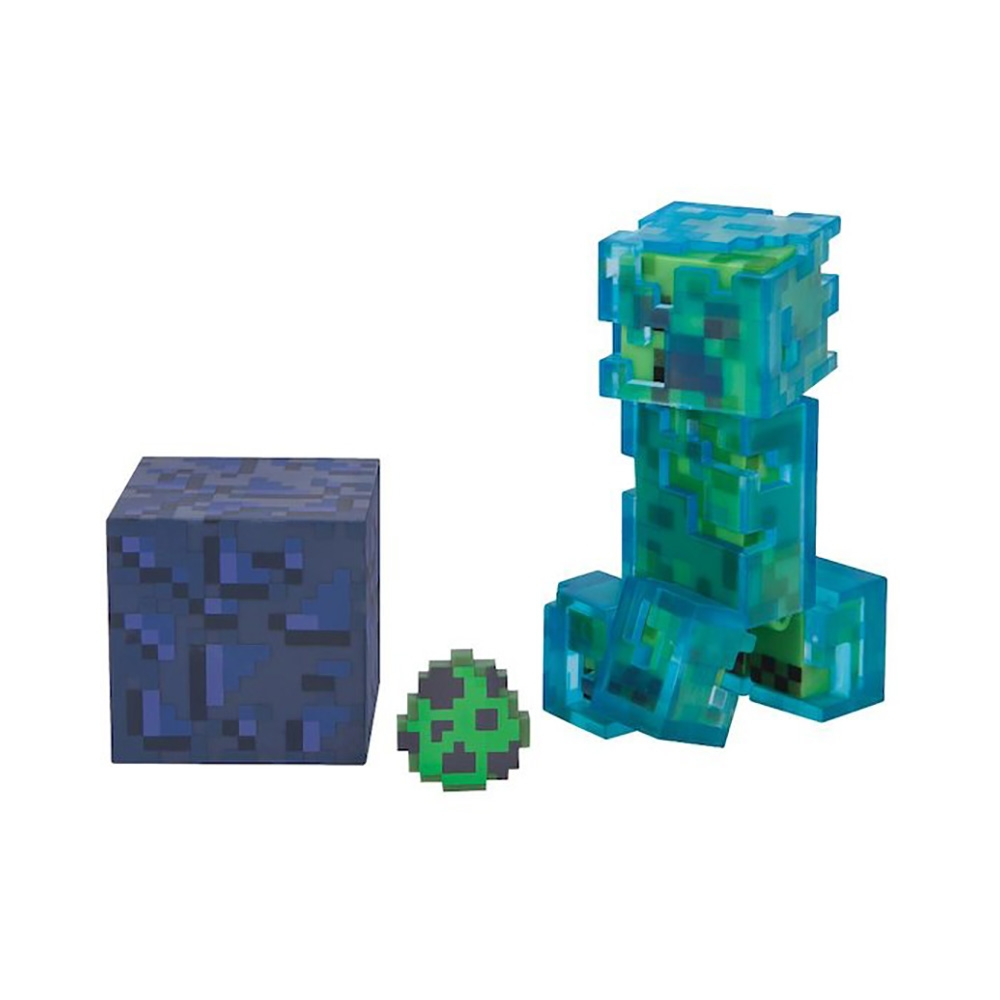 figurina minecraft action seria 3 - charged creeper