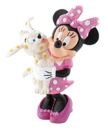figurina minnie mouse cu catelus, 5 cm
