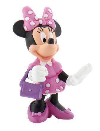 figurina minnie mouse cu poseta, 5 cm