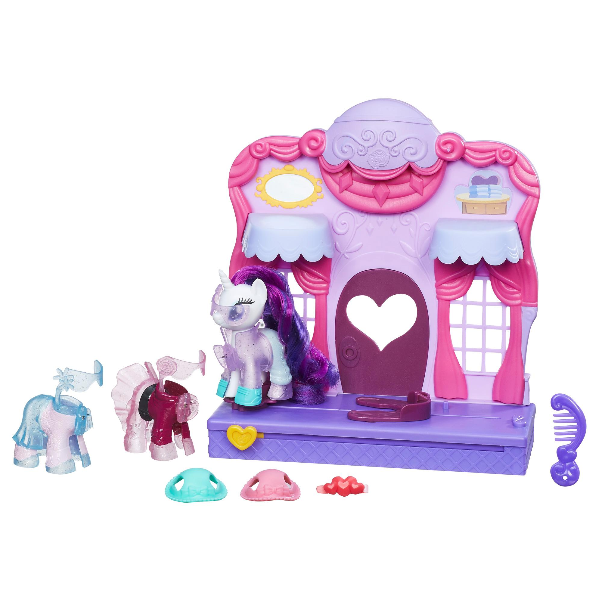 figurina my little pony friendship is magic - set tematic prezentare de moda, rarity