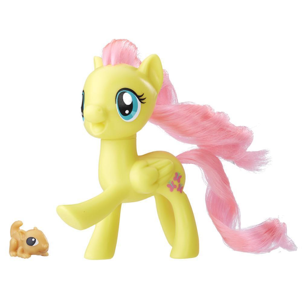 figurina my little pony frienship is magic - fluttershy si veverita