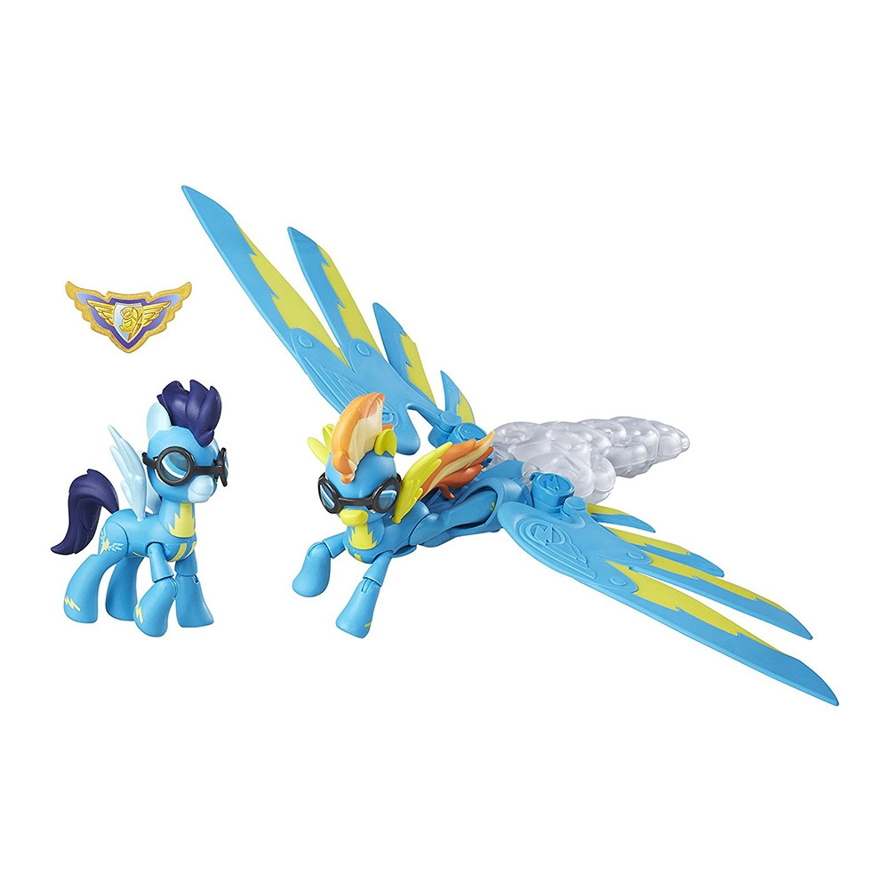 figurina my little pony guradians of harmony - spitfire, soarin