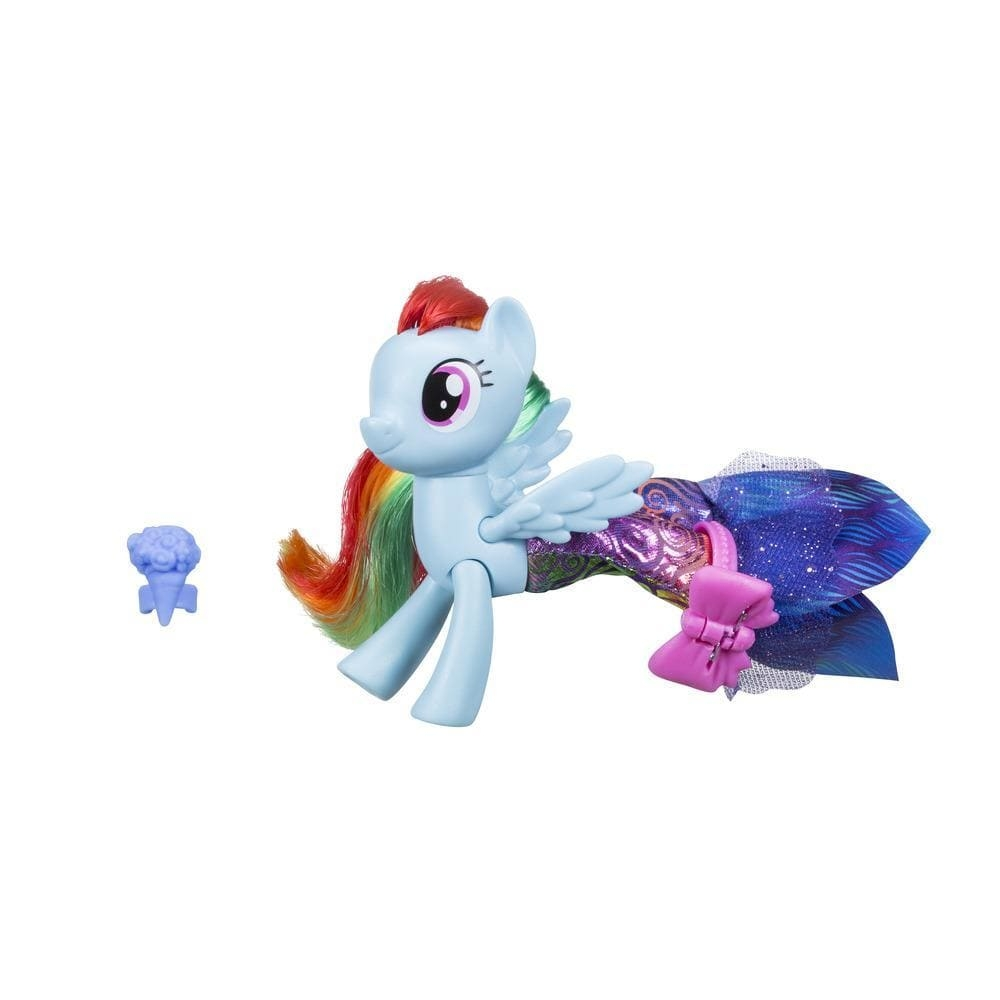 figurina my little pony ponei de mare cu rochita - rainbow dash