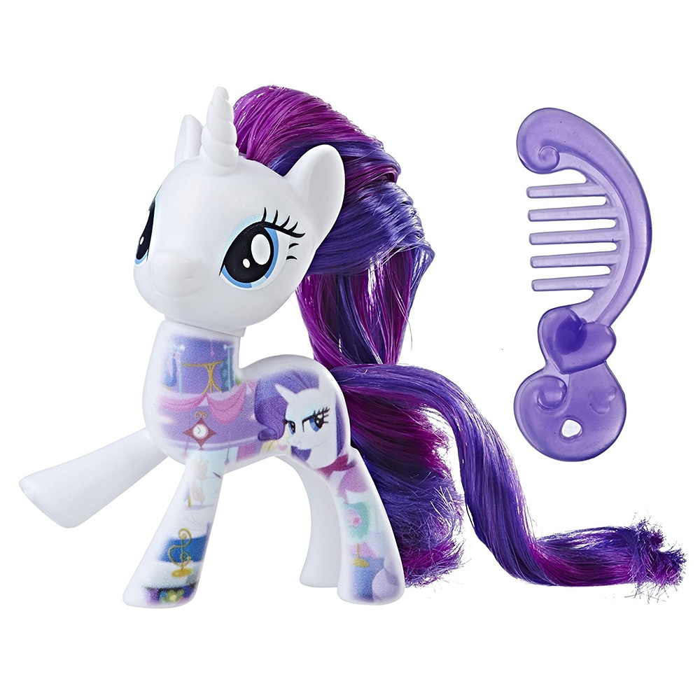 Figurina My Little Pony - Rarity cu pieptene