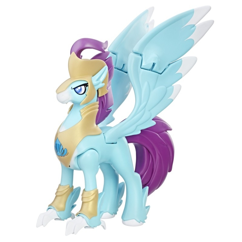 figurina my little pony the movie - luptatorul stratus skyranger hippogriff