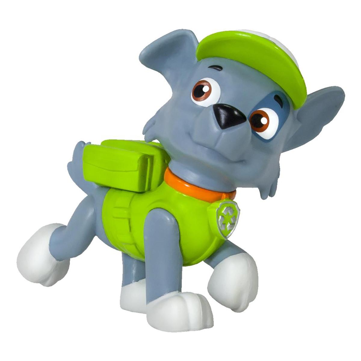 figurina paw patrol - rocky cainele care recicleaza, 6.6 cm