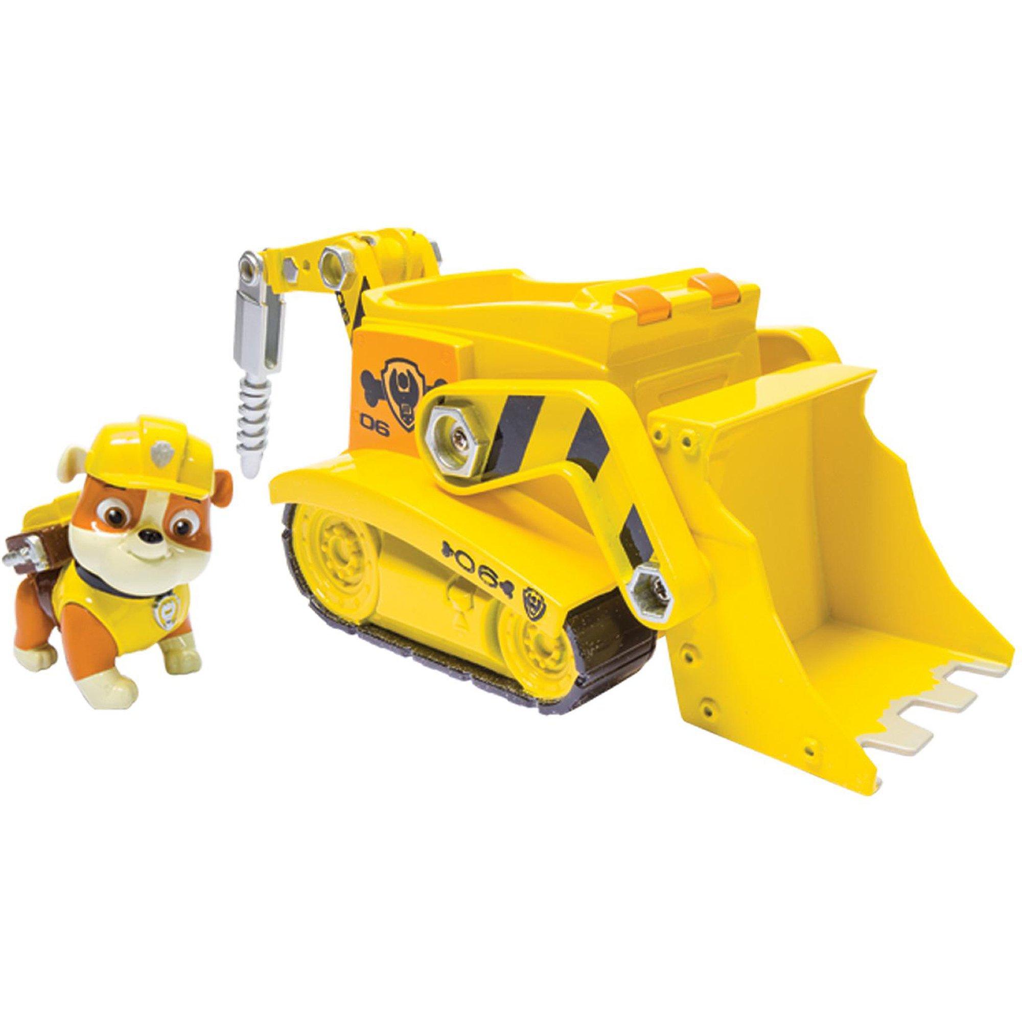 figurina paw patrol, rubble si buldozer