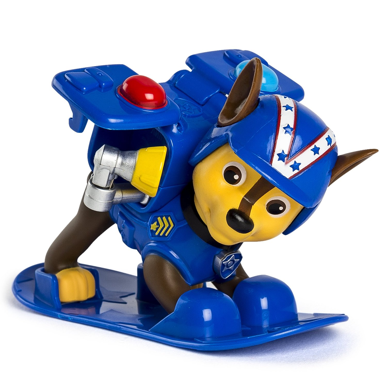 figurina paw patrol winter rescues snowboard - chase politist, 7.5 cm