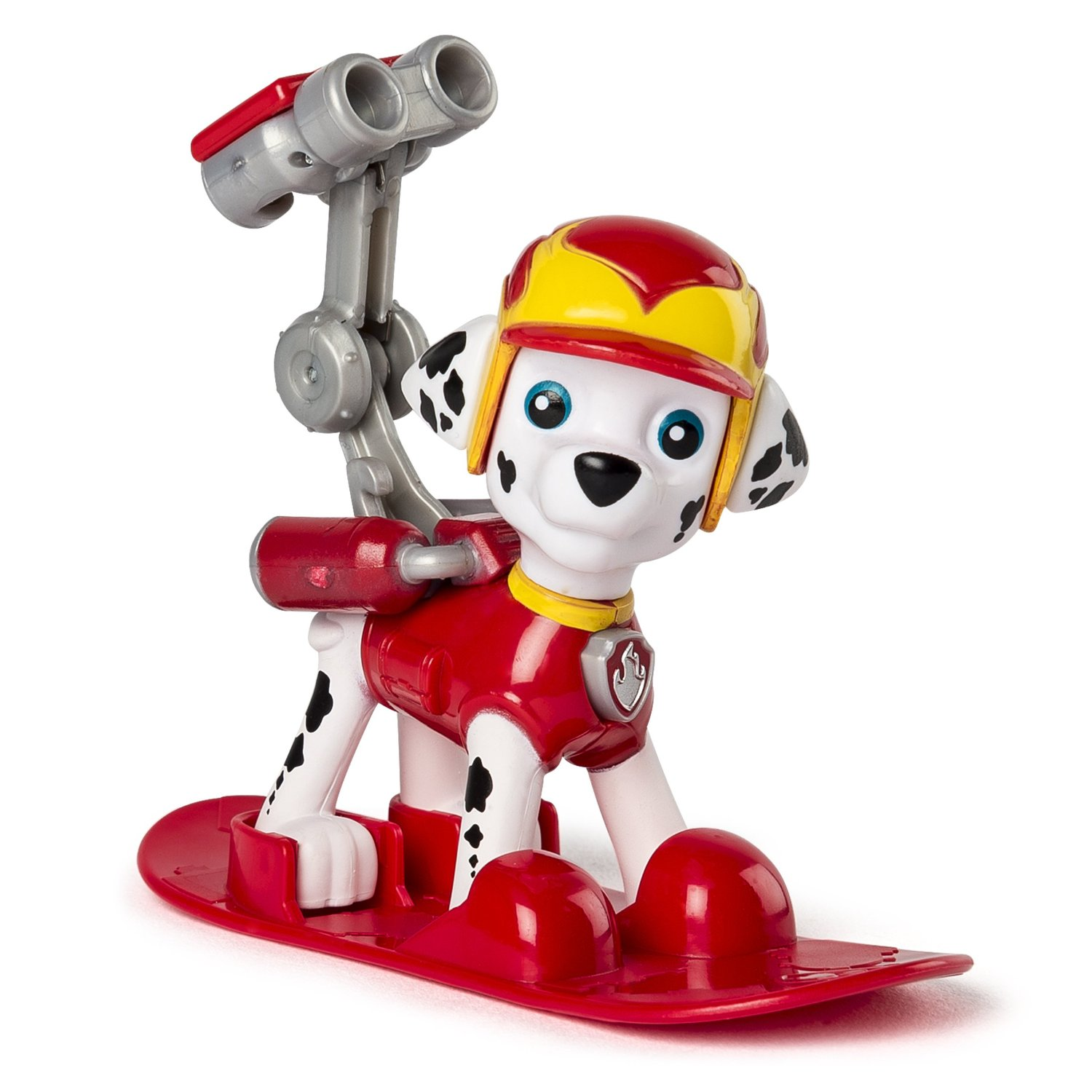 figurina paw patrol winter rescues snowboard - marshall pompier, 7.5 cm