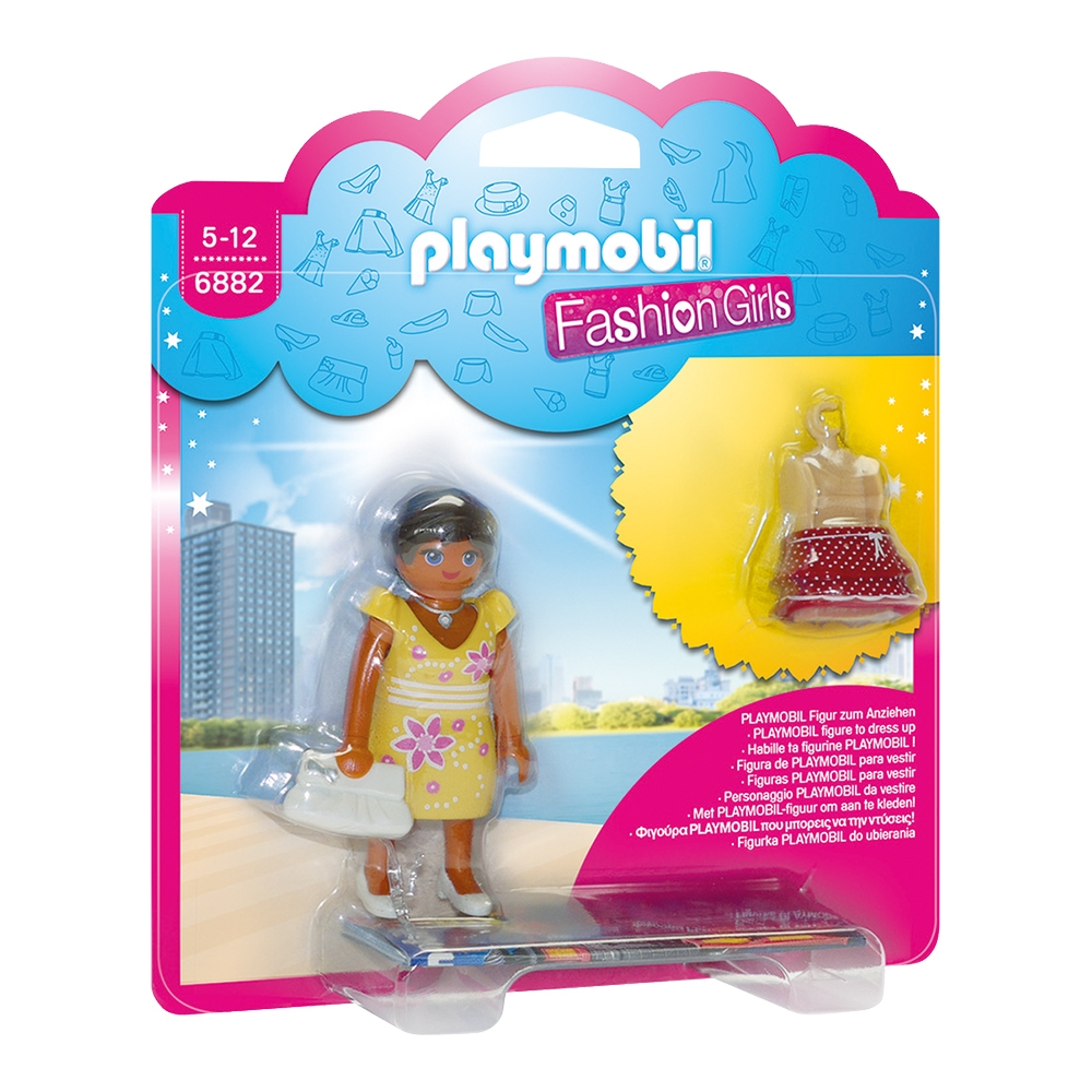 figurina playmobil fashion girls - fetita in tinuta de vara (6882)