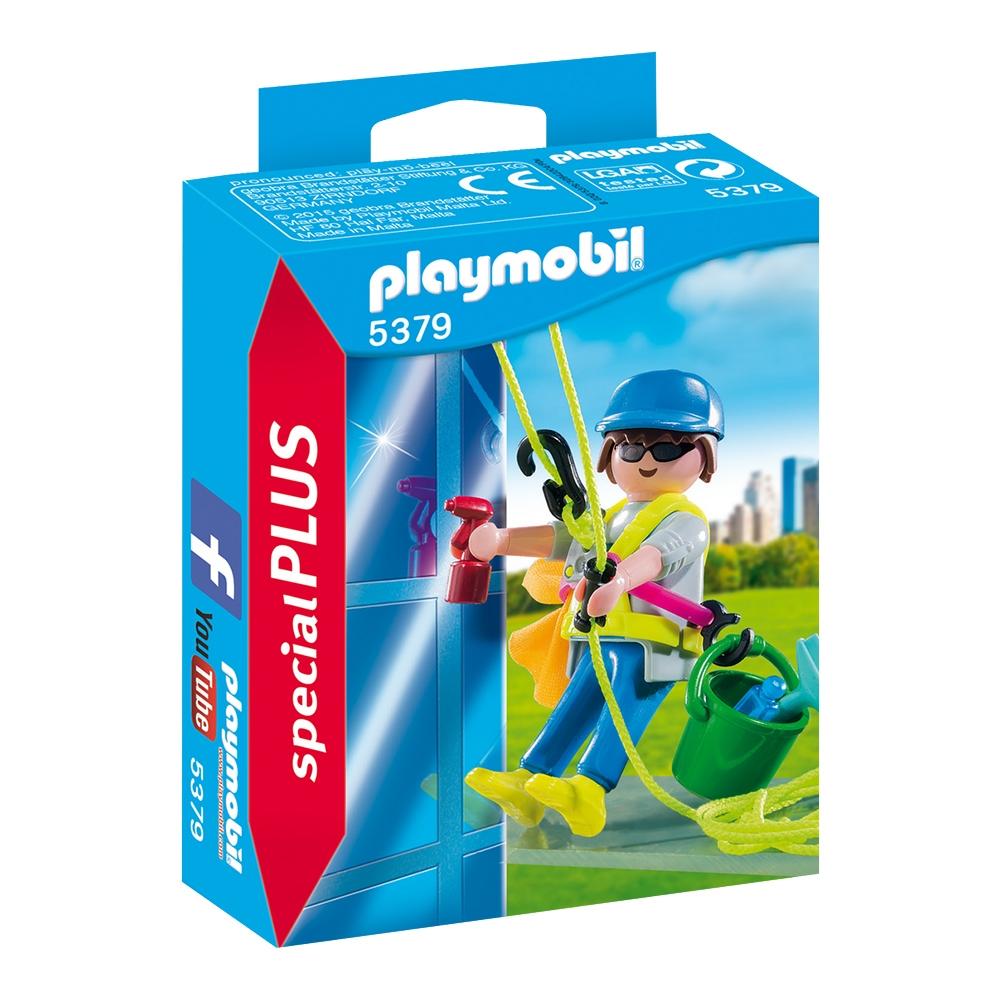 figurina playmobil special plus - curatator de geamuri (5379)