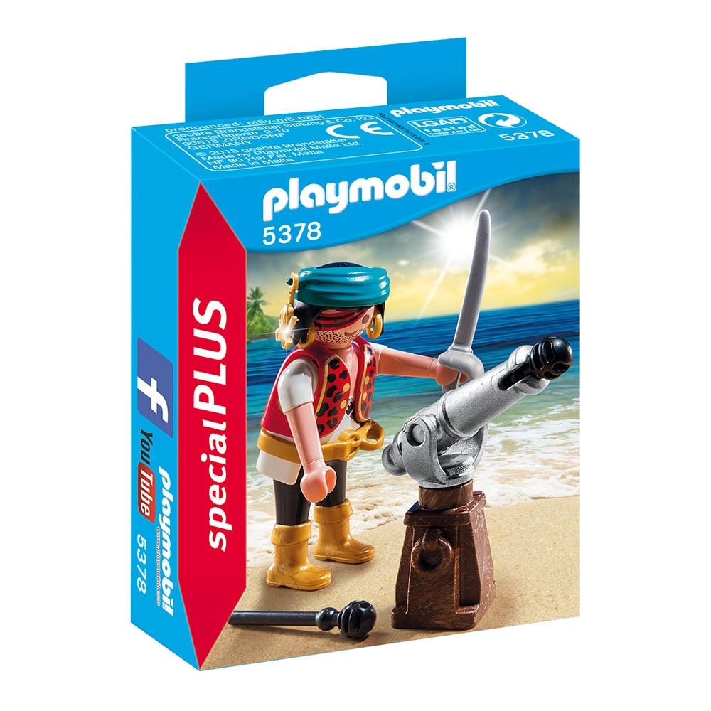 figurina playmobil special plus - pirat cu tun (5378)