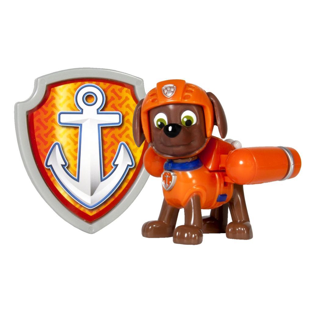 figurina si insigna paw patrol, zuma salvamar, 6.3 cm