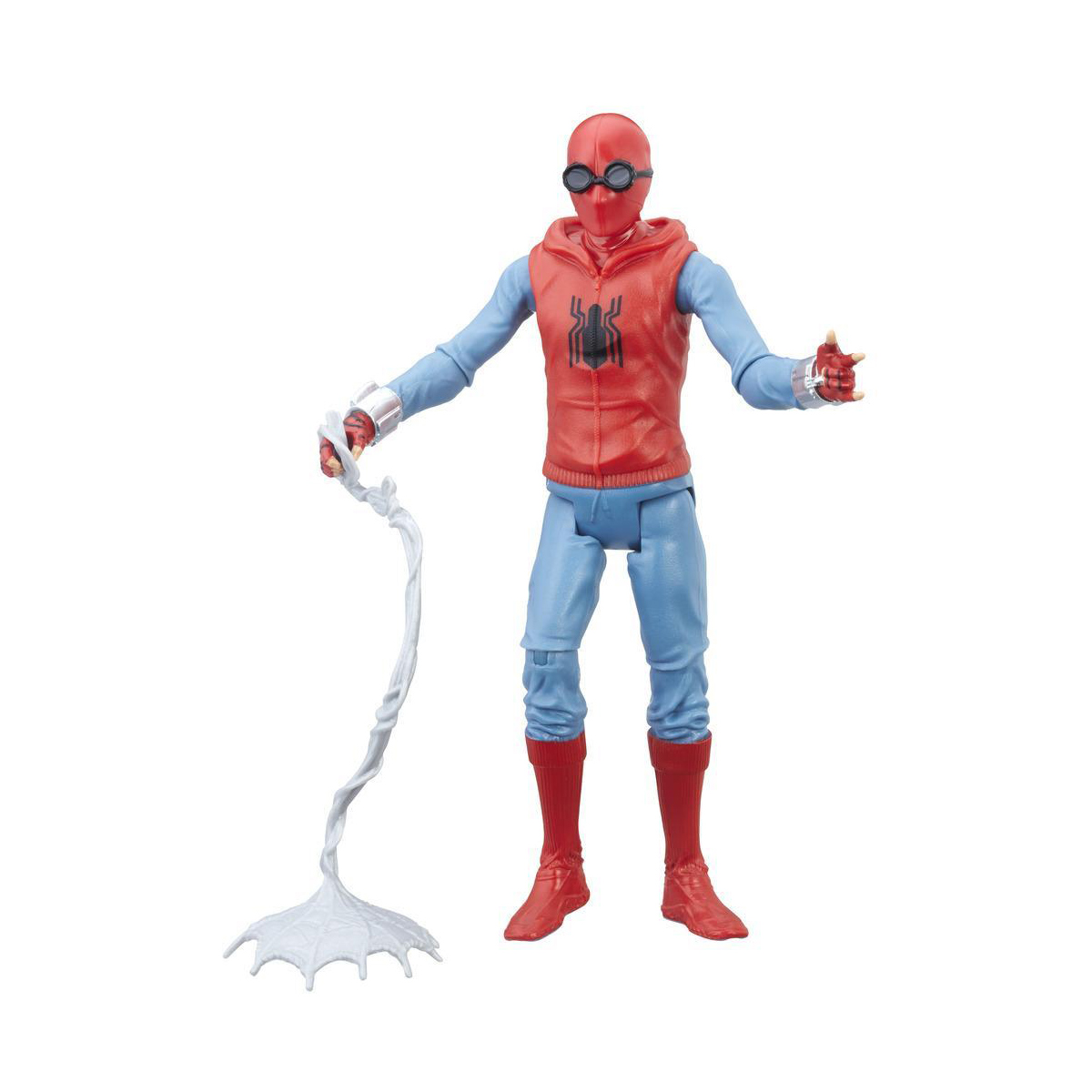 figurina spiderman homecoming - spiderman in costum homemade, 15 cm