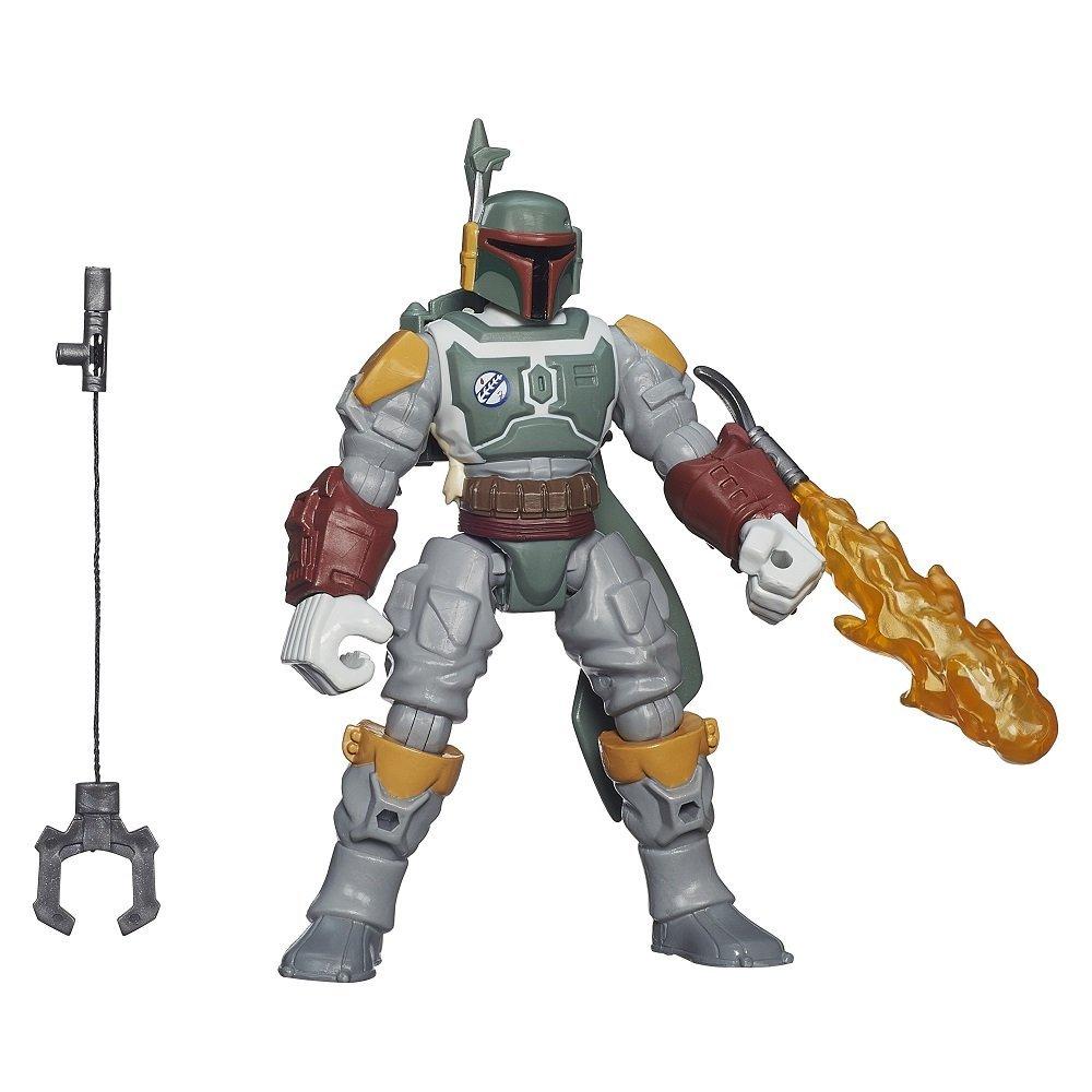 figurina star wars hero mashers deluxe - boba fett, 15 cm