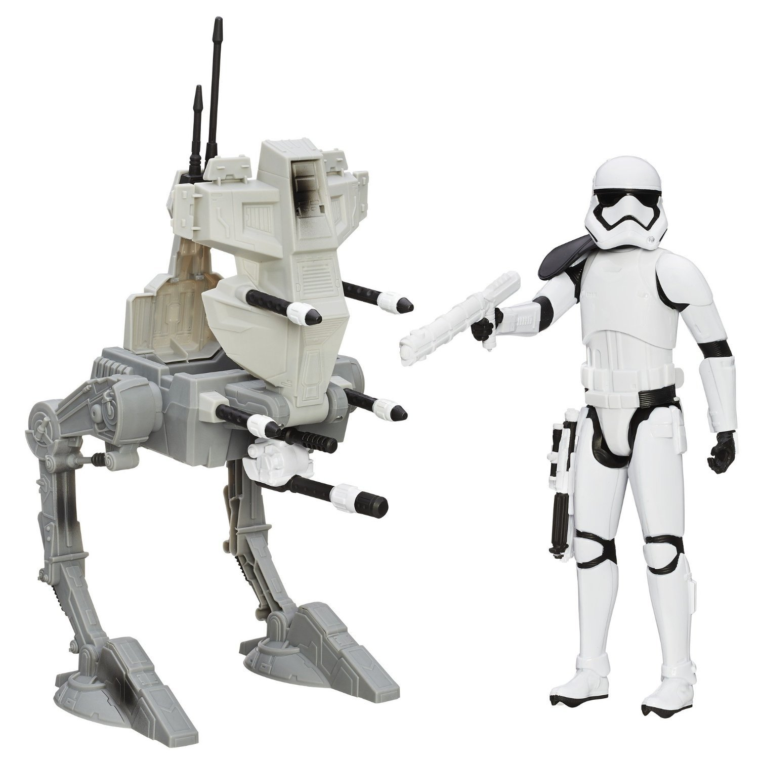figurina star wars the force awakens - sergentul riot si robotul de atac