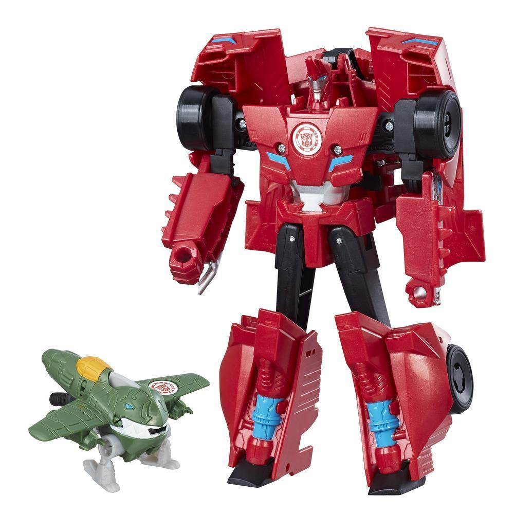 figurina transformers combiner force - sideswipe & great byte