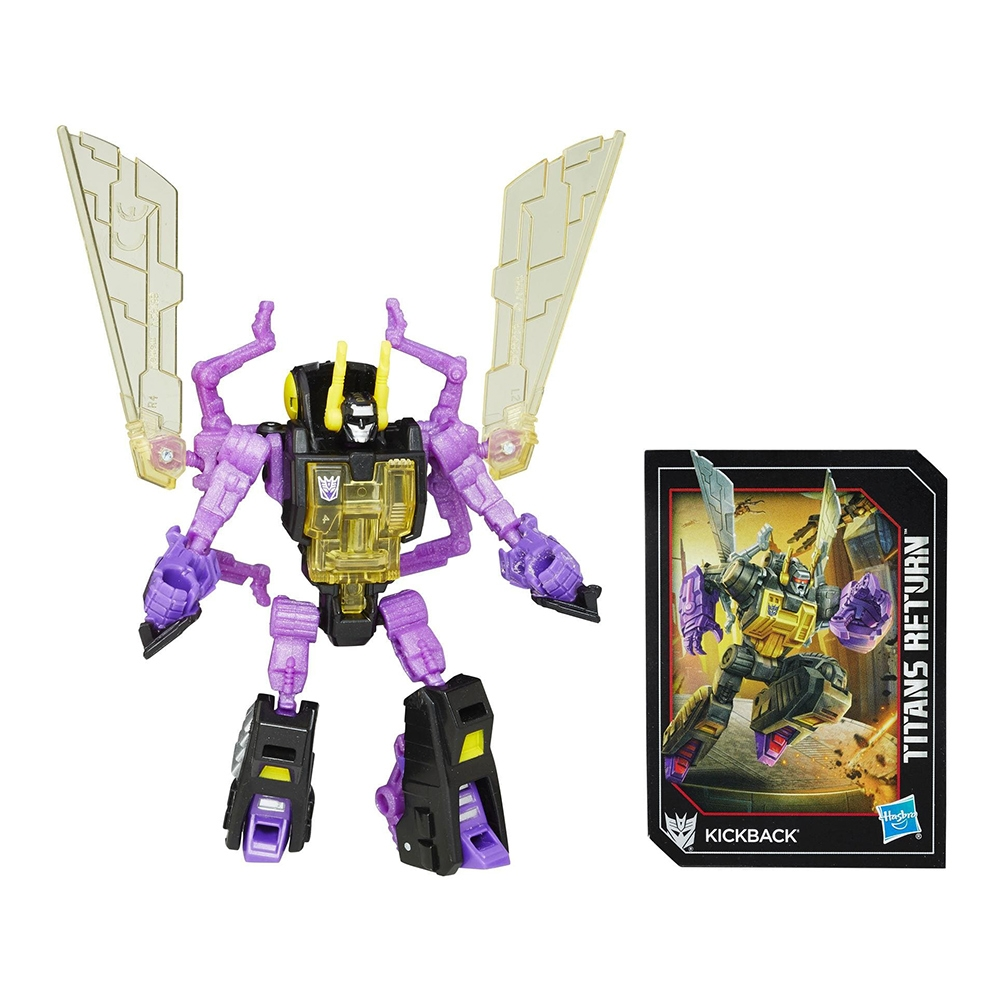 figurina transformers generations titans return legend class - kickback, 10 cm