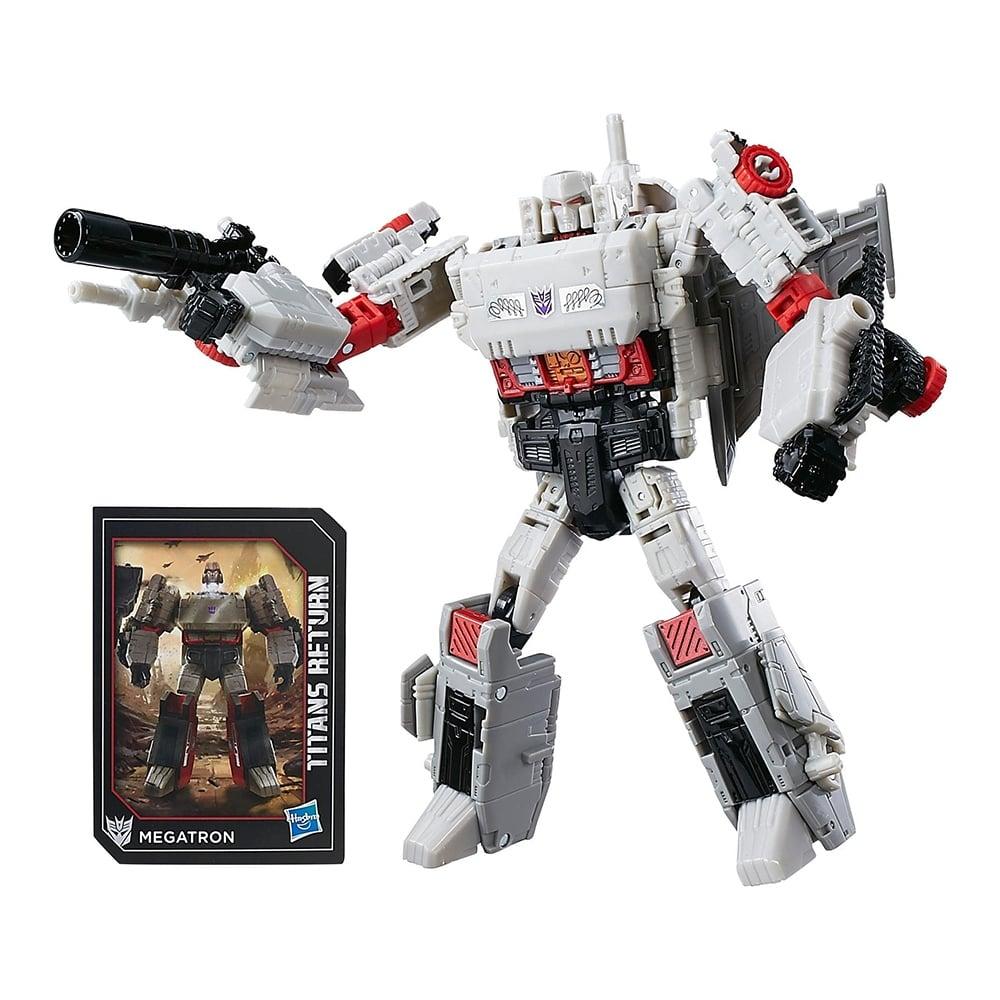 figurina transformers generations titans return voyager class - megatron si doomshot, 18 cm