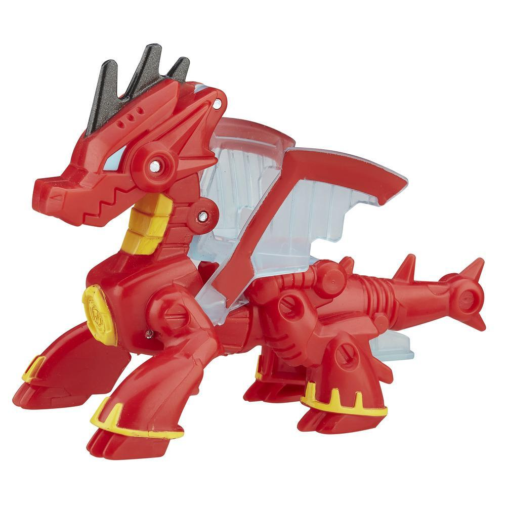 figurina transformers playskool heroes rescue bots - drake, the dragon bot