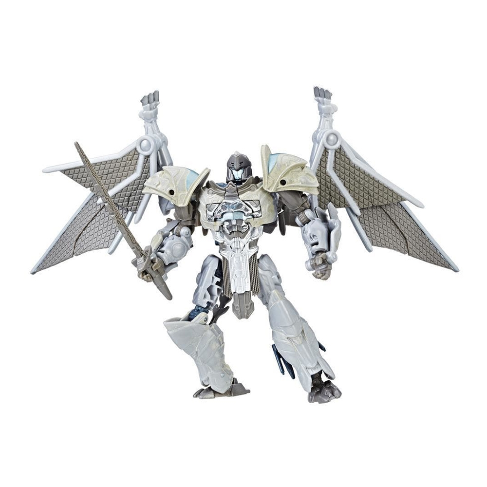 figurina transformers the last knight premier edition deluxe - steelbane, 14 cm