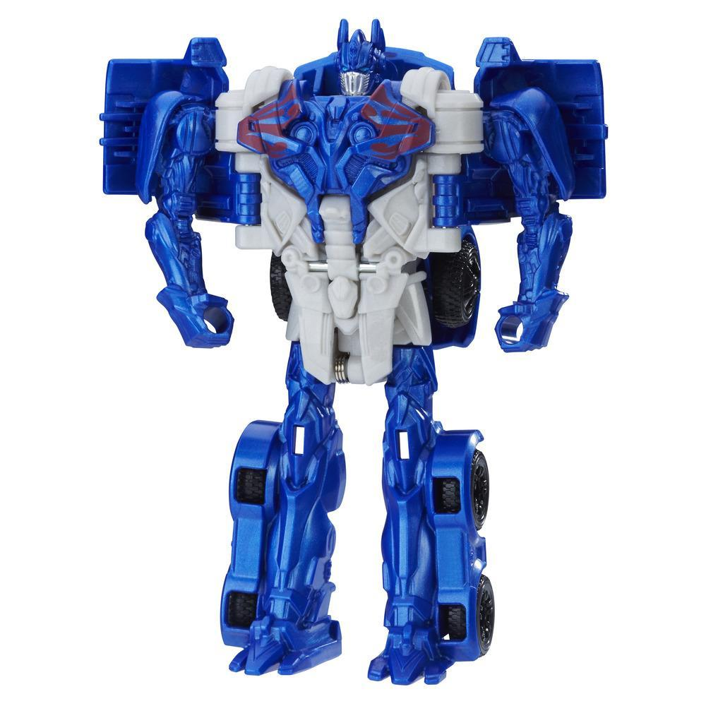 figurina transformers the last knight turbo changers - optimus prime