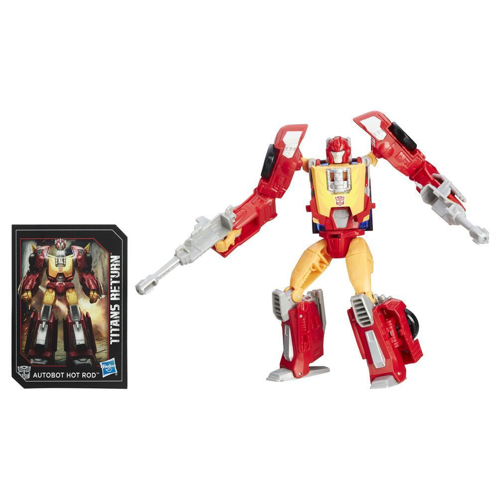 figurina transformers titans return - autobot hot rod and firedrive