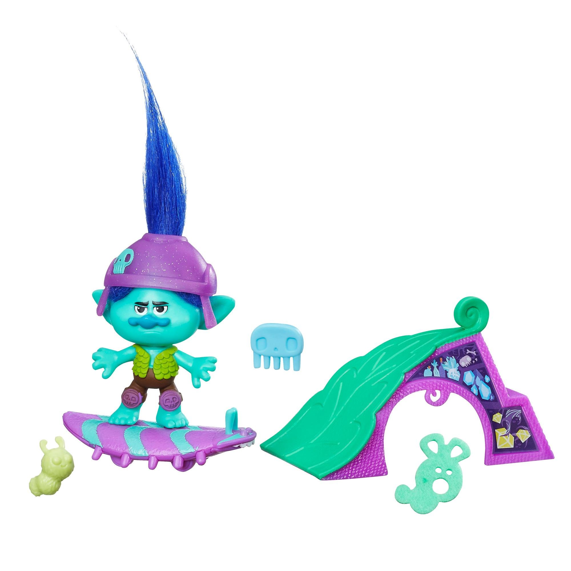 figurina trolls - setul de skating a lui branch