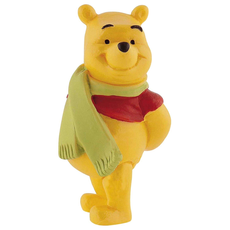 figurina winnie the pooh cu fular, 6 cm