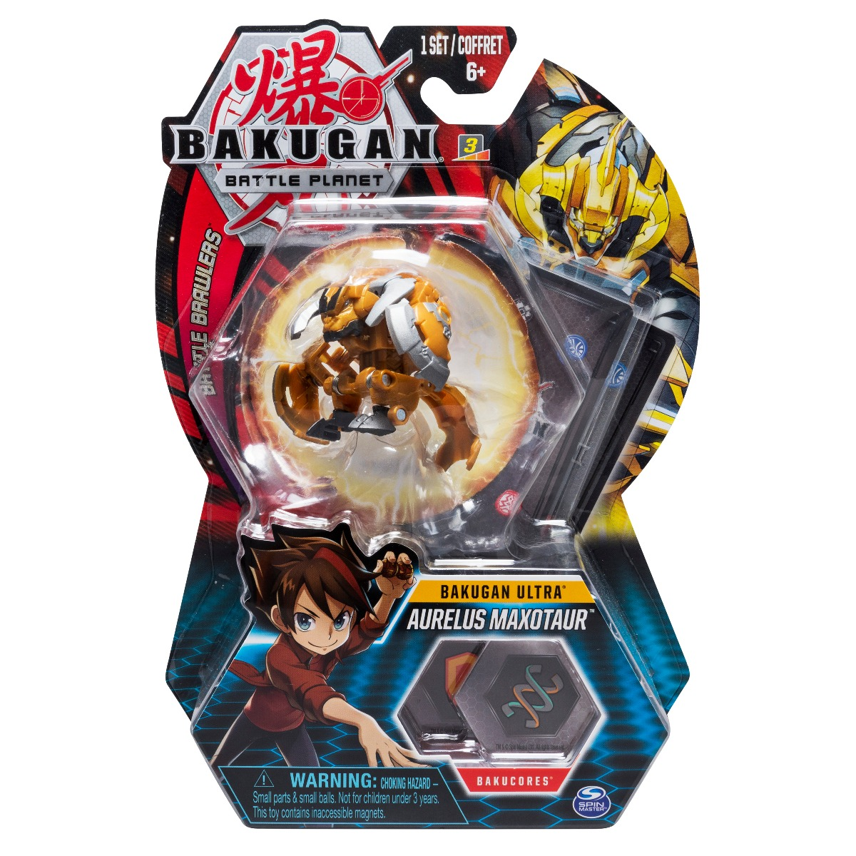 Figurina Bakugan Ultra Battle Planet, Maxotaur Gold, 20104039
