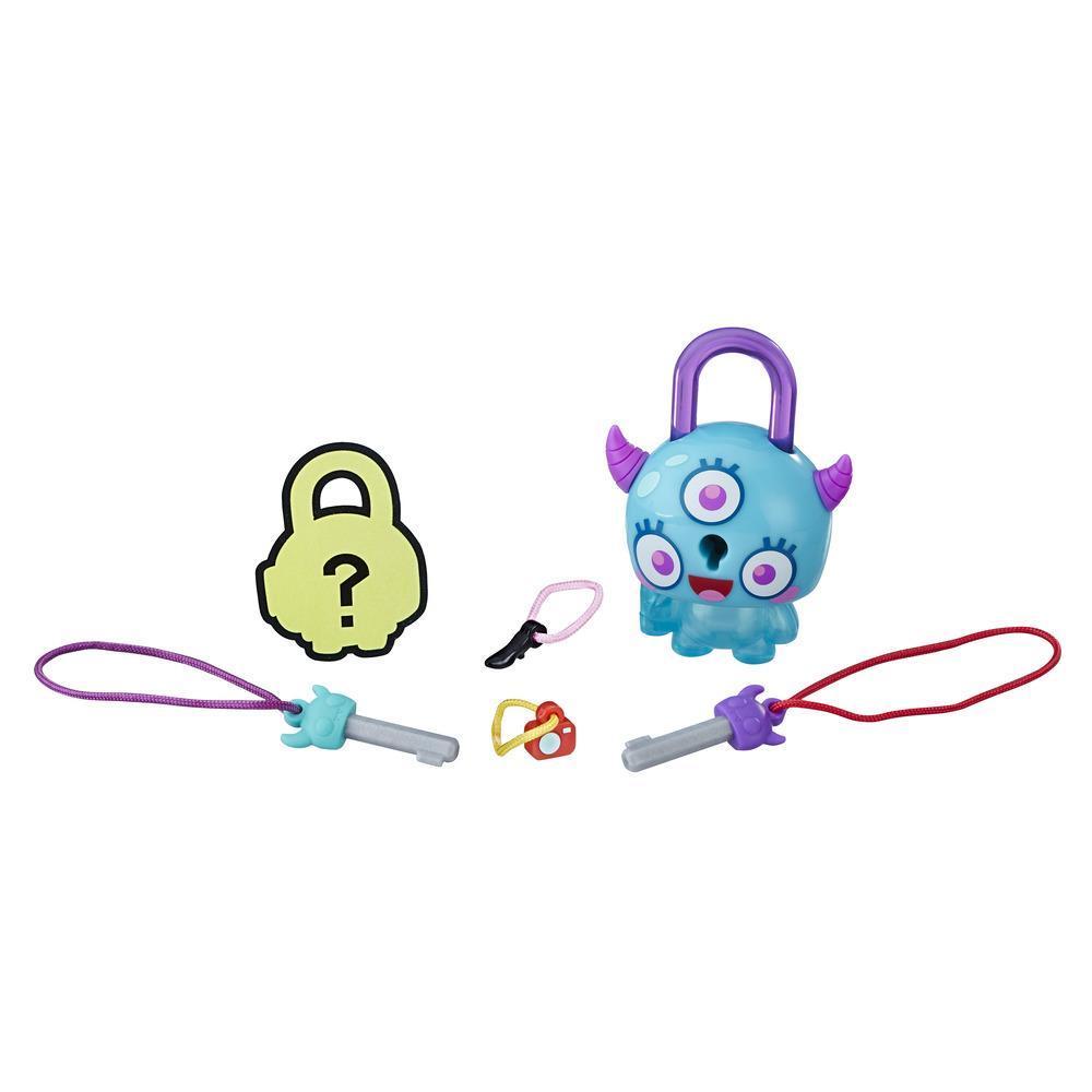 Figurina breloc Lock Stars - Monstru cu coarne (E3155)